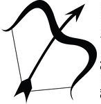 Sagittarius Bow And Arrow Zodiac Tattoo Stencil