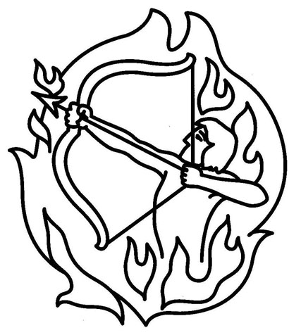 Sagittarius Symbol Outline Tattoo Sample