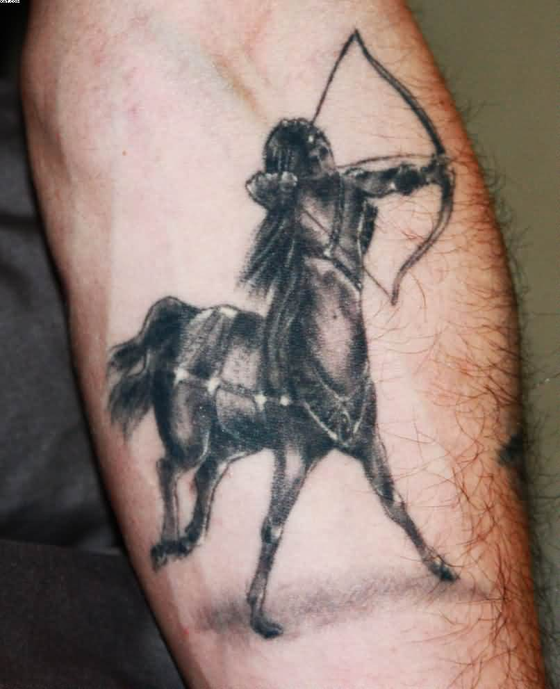 Sagittarius Tattoo On Forearm