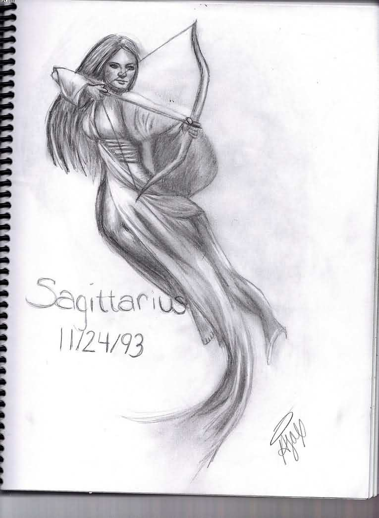 Sagittarius Tattoo Sketch