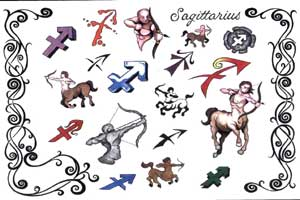 Sagittarius Tattoos Sheet