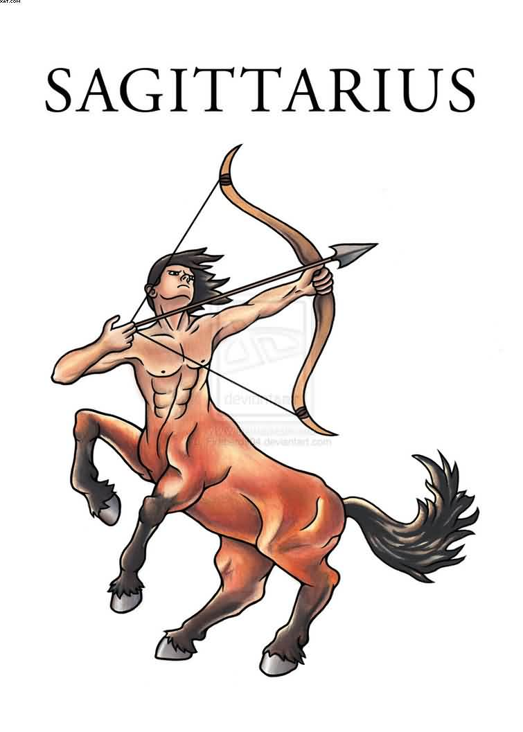 Sagittarius The Archer Tattoo Stencil