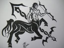 Sagittarius Tribal Tattoo Flash (2)