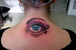 3D Blue Eye Tattoo For Girls And Women