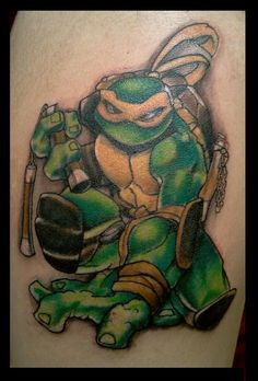 3D Ninja Turtle Tattoo Image