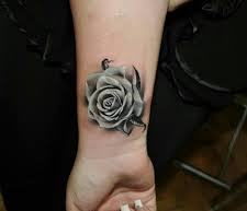 3D Rose Tattoo Fashion For Girls