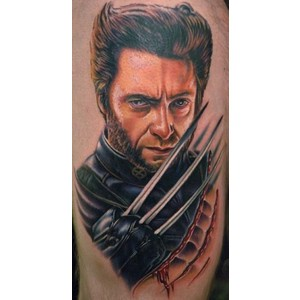 3D X-Man Portrait Tattoo For Boys