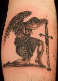Angel With A Long Sword Tattoo