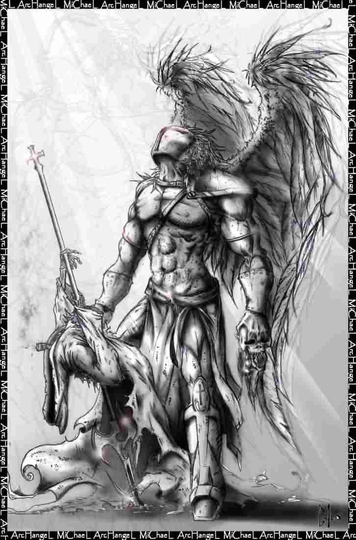 Archangel With Sword Tattoo Photo