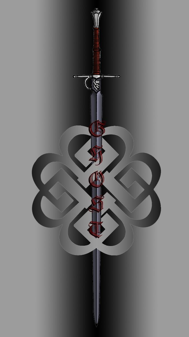 Bb Celtic Knot With Awesome Sword Tattoo Graphic