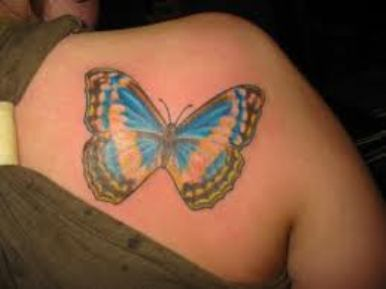 Butterfly 3D Tattoo Fashion For Women
