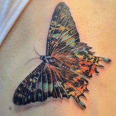 Color Butterfly 3D Tattoo