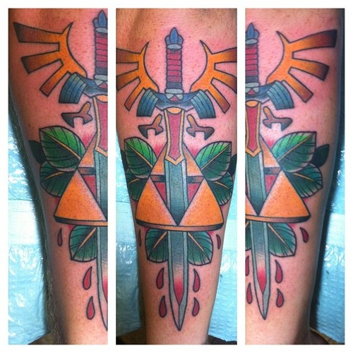 Color Master Sword Tattoos