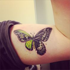Cool 3D Butterfly Tattoo For Boys