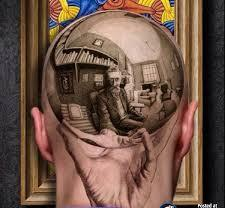 Different 3D Tattoo On Bald Head