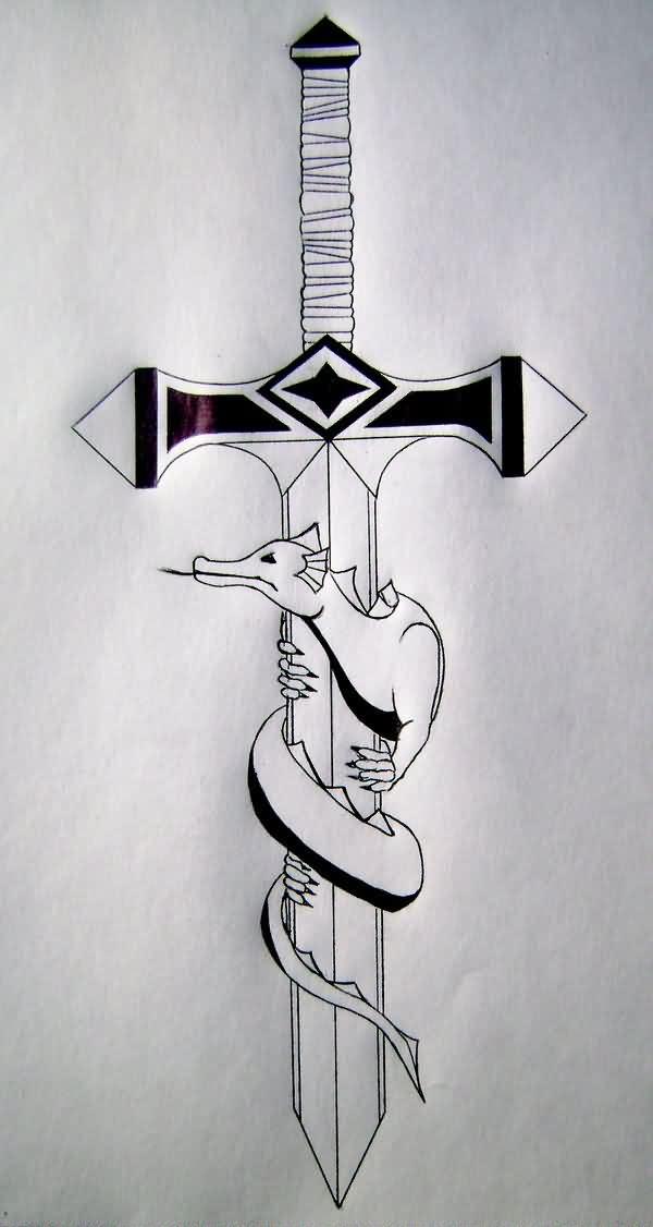 Dragonbane Sword Tattoo Design