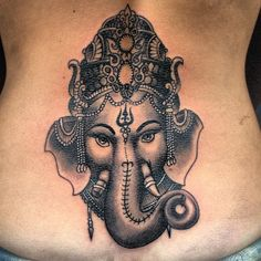 Fantastic Grey 3D Religious Tattoo On Back