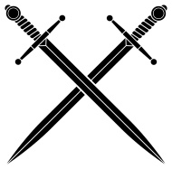 Fresh Black Crossed Swords Tattoo Designs