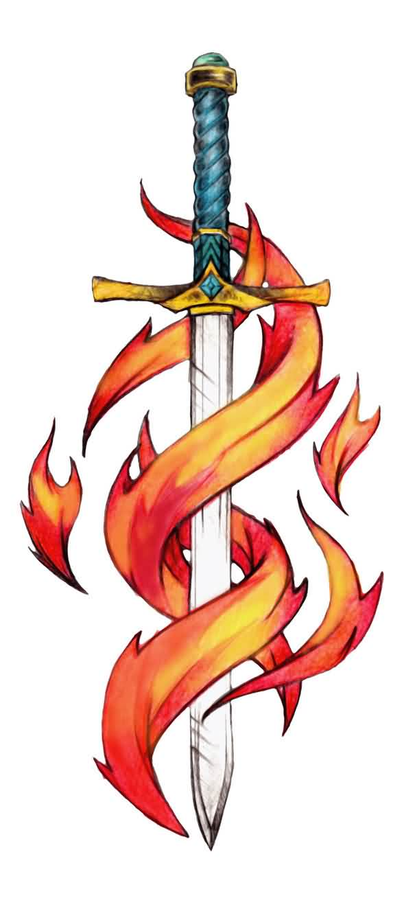 Fresh Sword Tattoo Design
