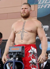 Lesnar's Sword Tattoo On Chest