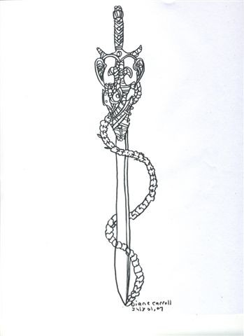 Long Sword Tattoo Sample