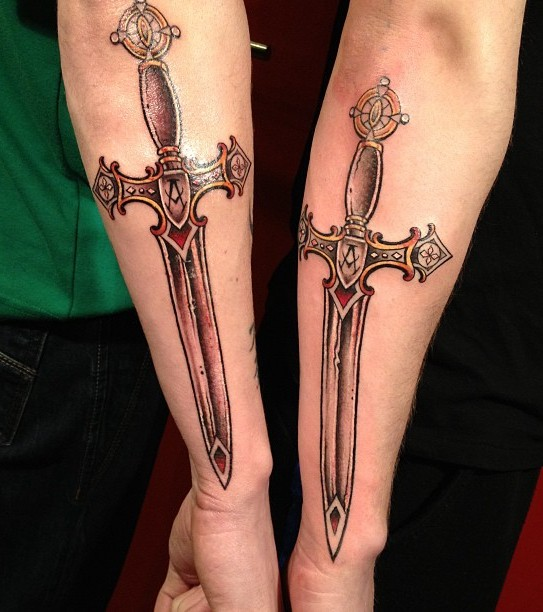 New Amazing Sword Tattoos On Arm