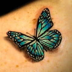 Once Again 3D Butterfly Tattoo