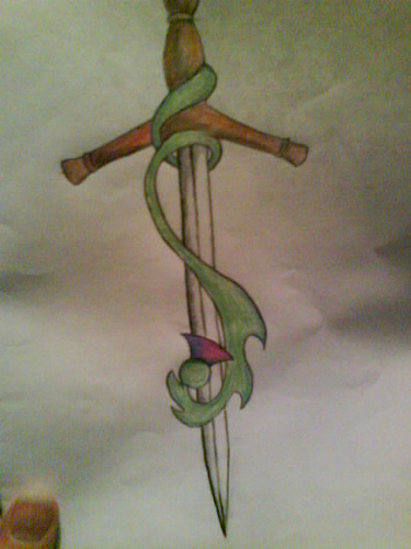 Once Again Sword Tattoo Design