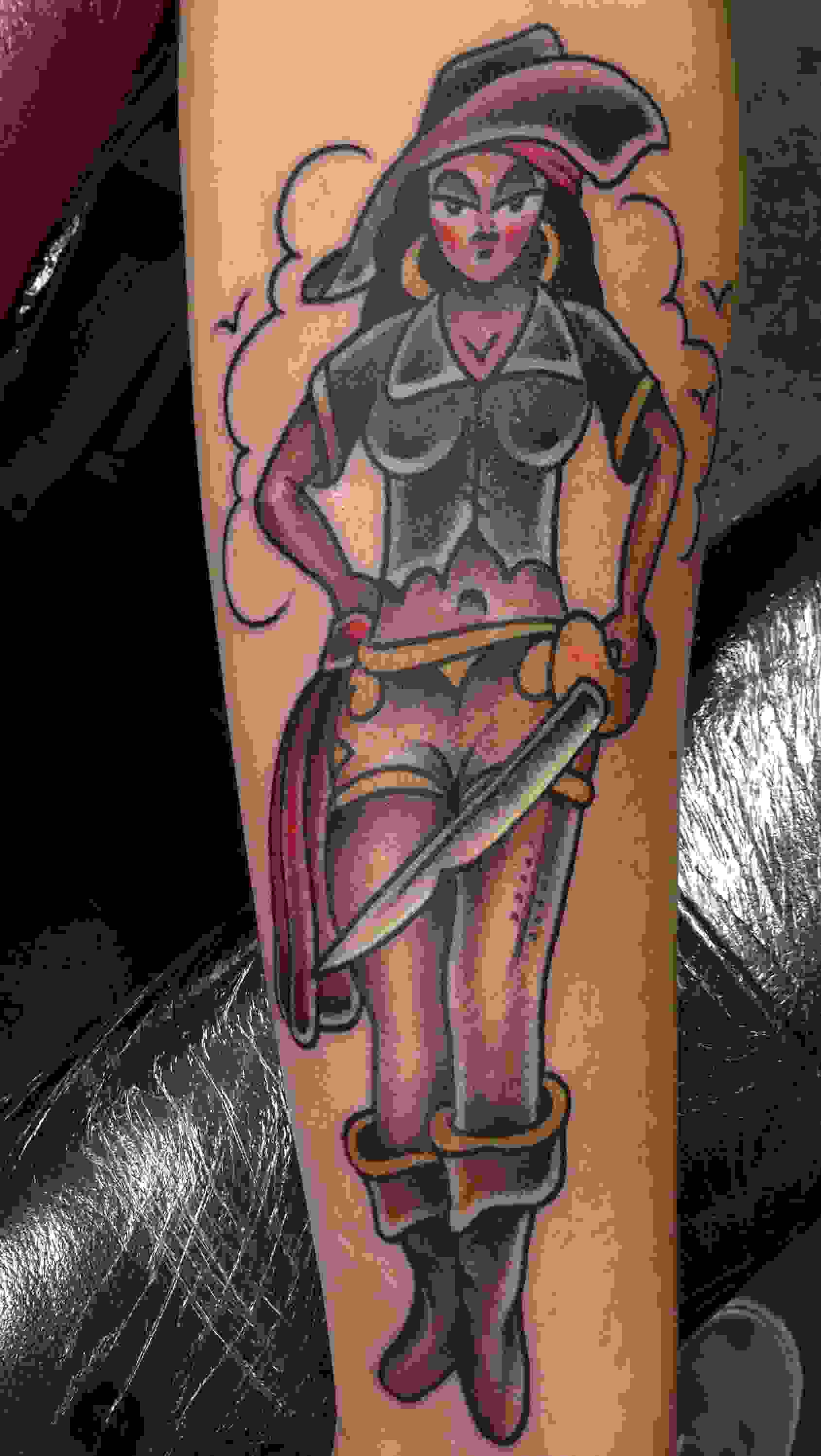 Pirate Girl With The Sword Tattoo