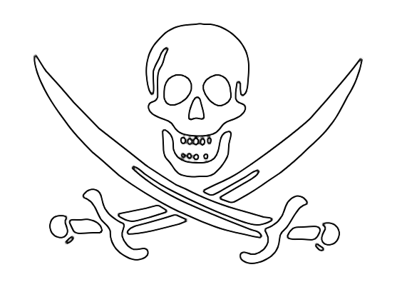 Pirate Skull And Crossed Sword Tattoo Designs