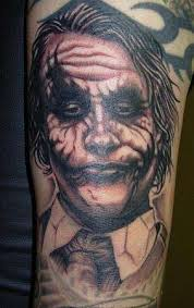 Realistic 3D Batman Joker Tattoo