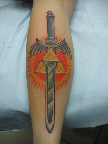 Sun And Zelda Master Sword Tattoos