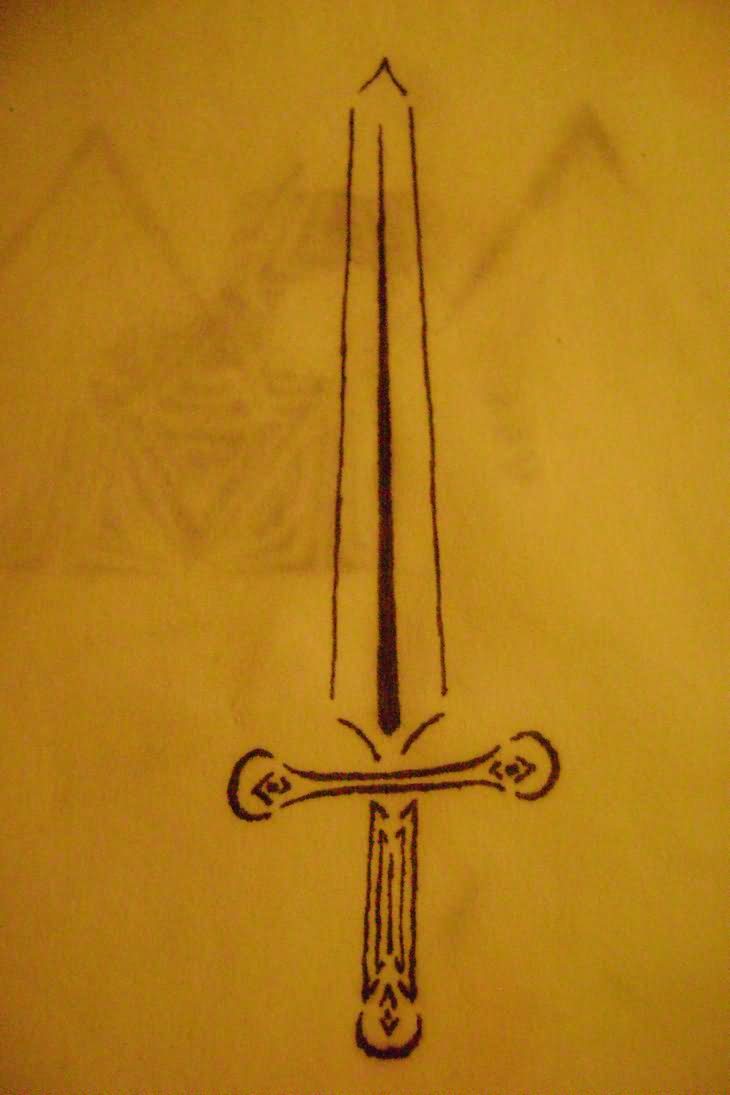 Sword Tattoo Print