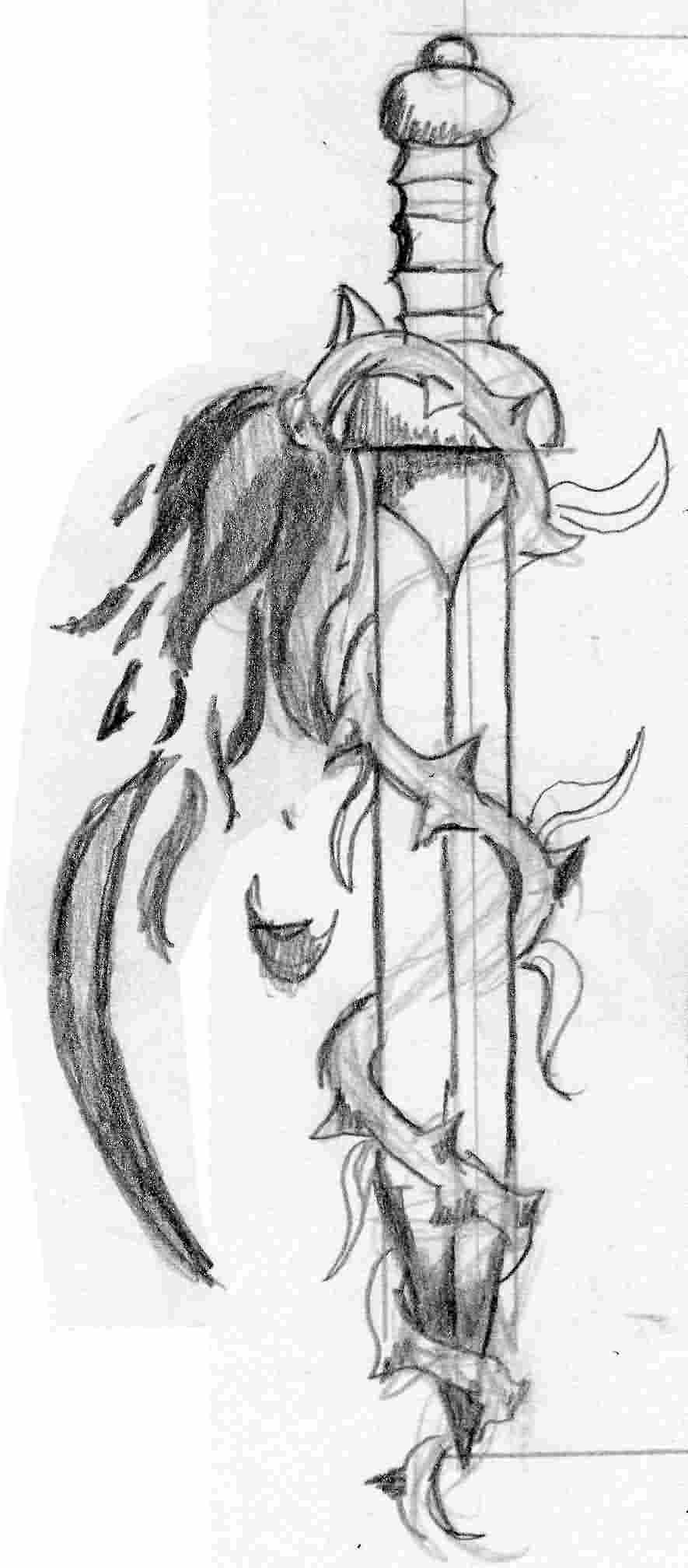 Sword Tattoo Sketch