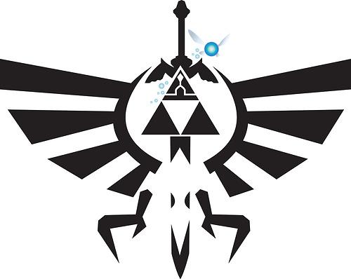Sword Triforce Tattoo Stencil