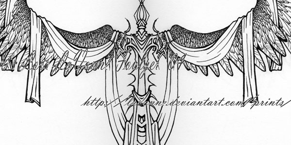 Sword Wings Tattoo Sample
