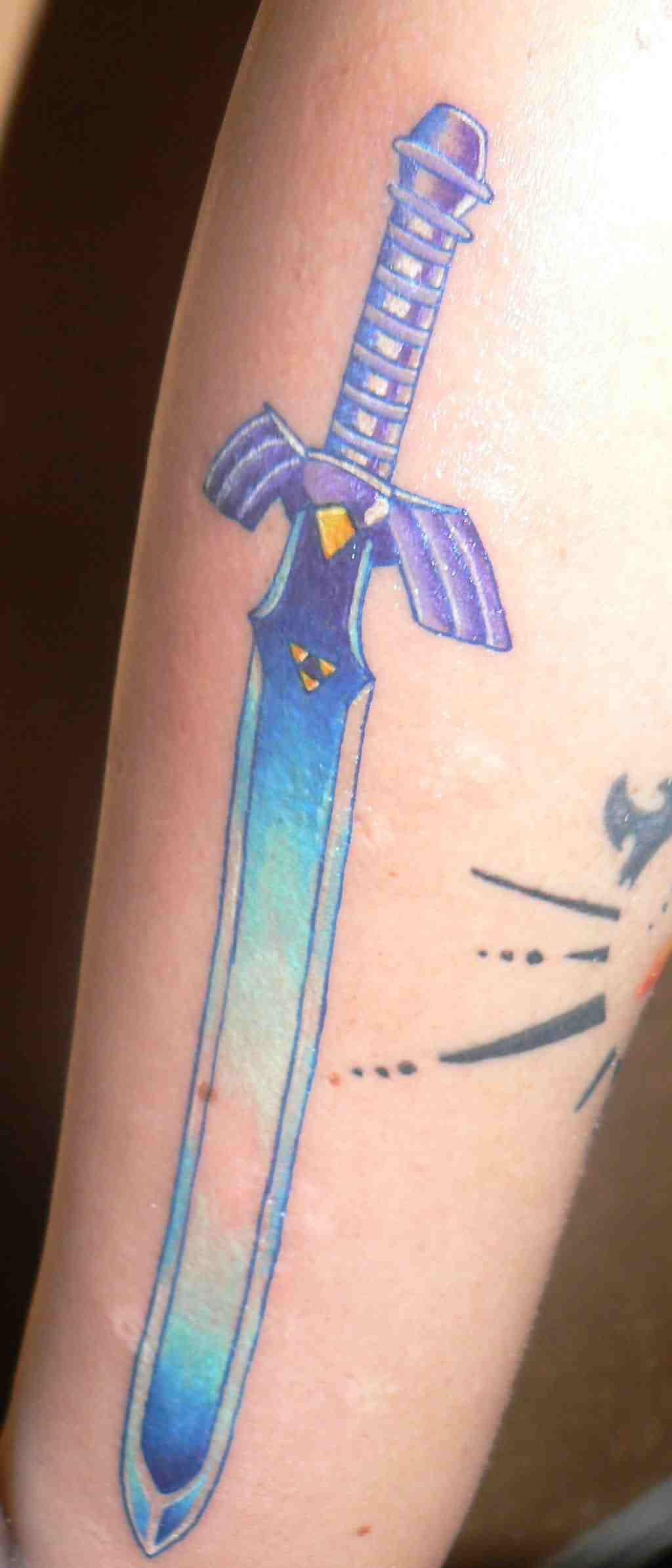 The Master Sword Tattoo On Arm