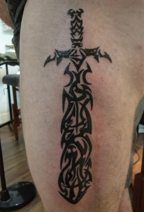 The Tribal Sword Tattoo For Men