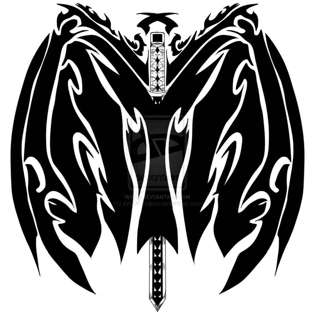 Tribal Sword Tattoo Idea