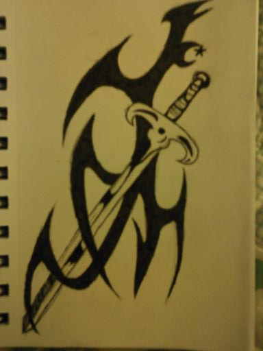 Tribal Sword Tattoo Page
