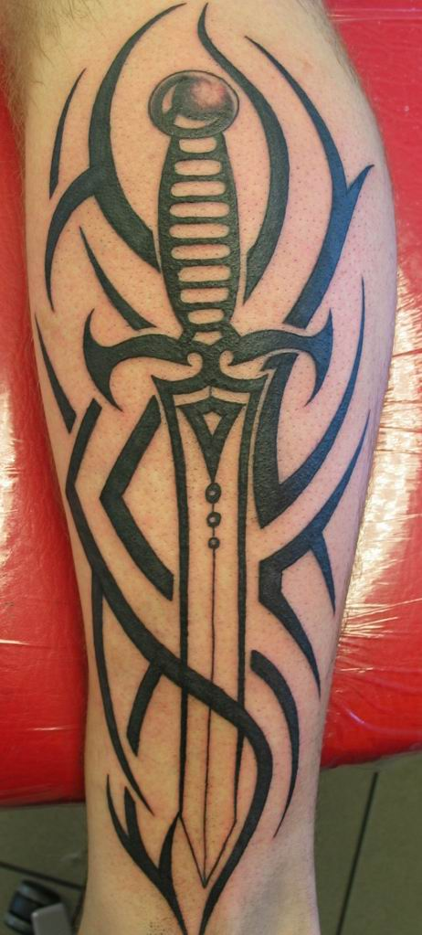 Truly Amazing Tribal And Sword Tattoos For Boys