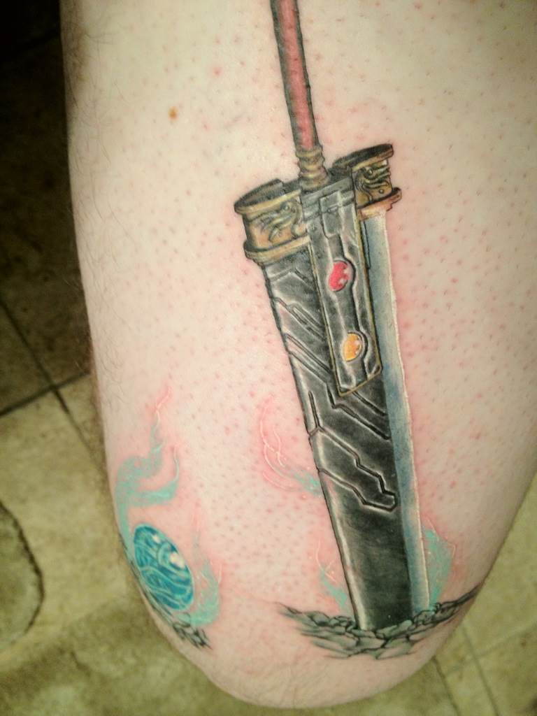 Truly Awesome Buster Sword Tattoo