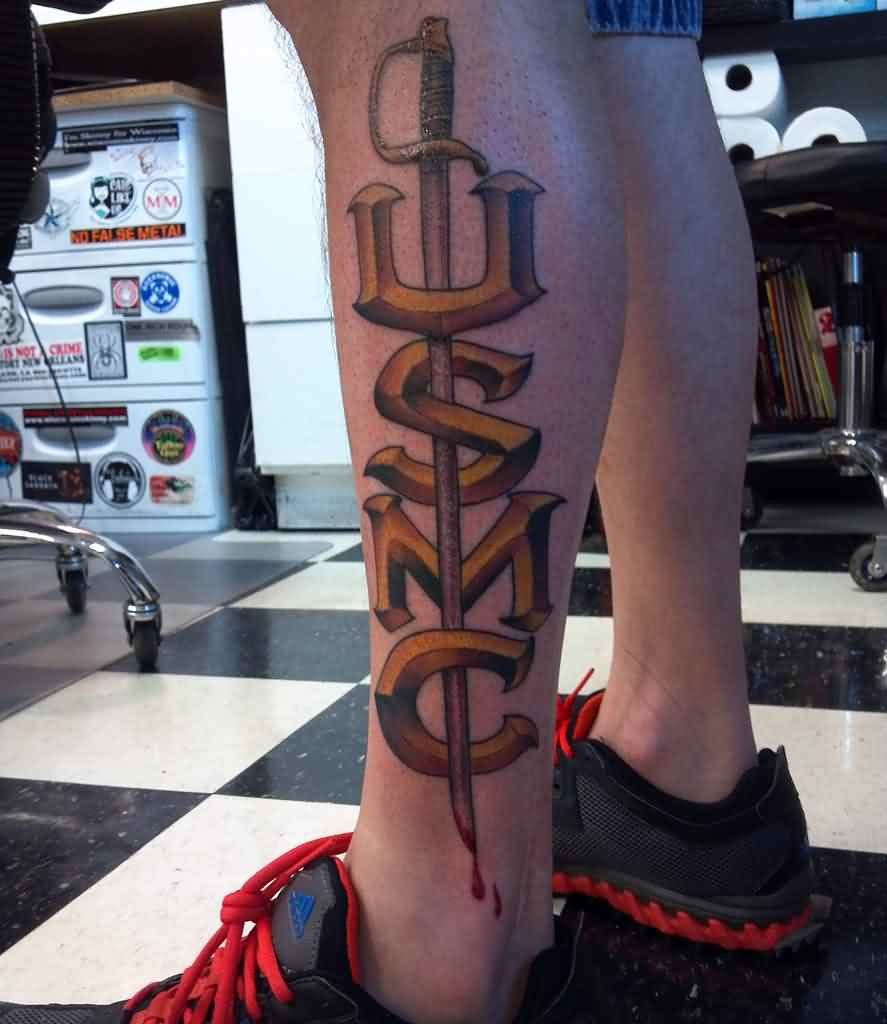 USMC - Sword Tattoo
