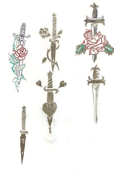 Various Sword Tattoos