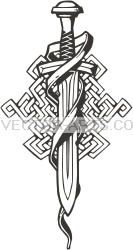 Viking Sword Tattoo Model