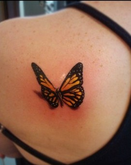 What A 3D Butterfly Tattoo!