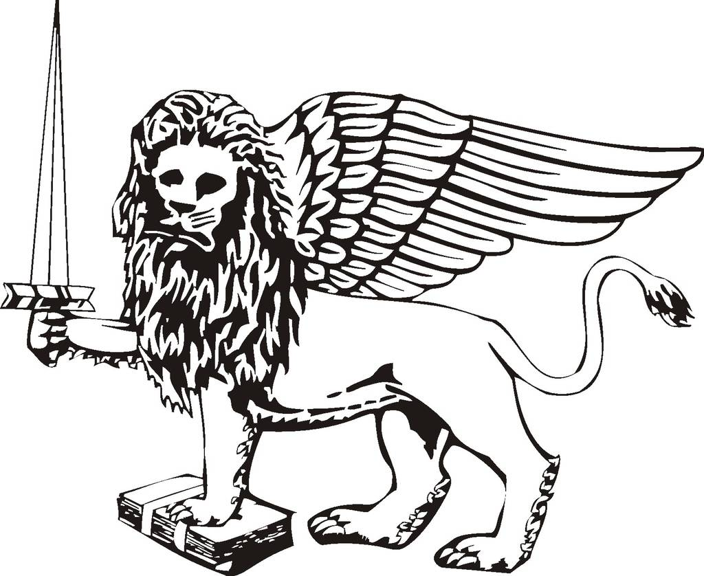 Winged Lion With Sword Tattoo Sample