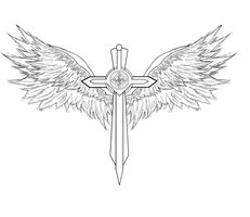 Winged Sword Tattoo Sample