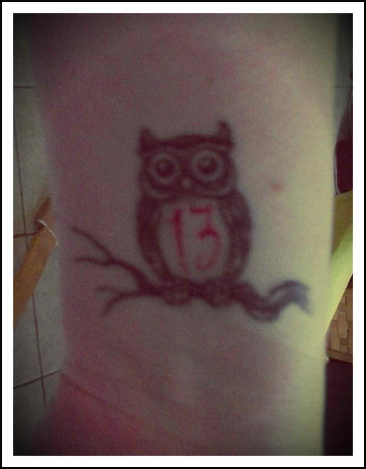 13 Owl Tattoo On Wrist