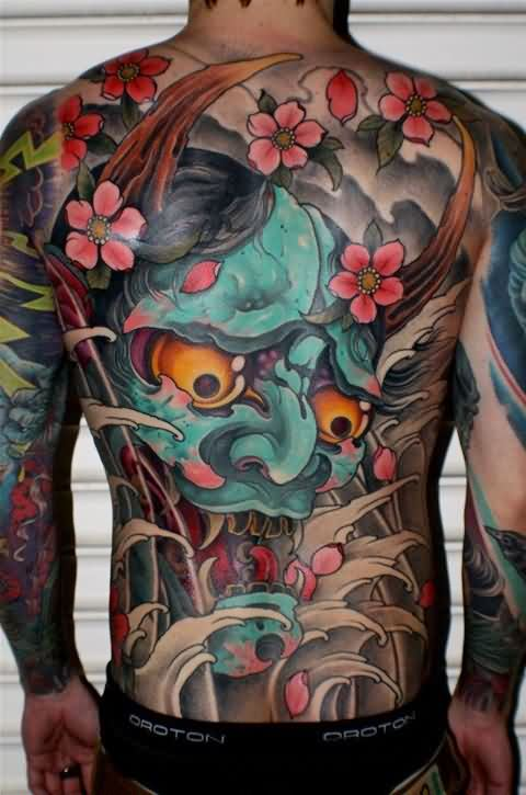 3D Asian Tattooed Body
